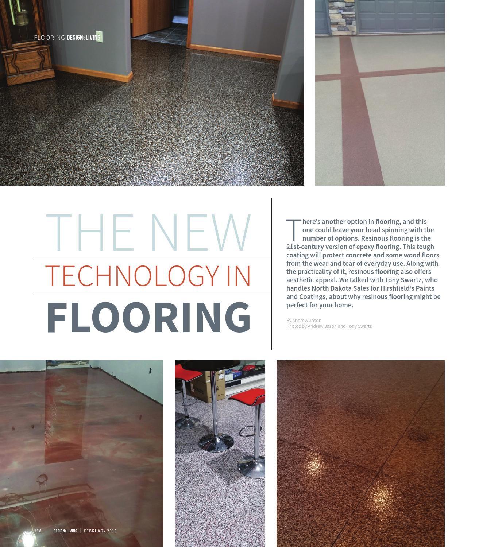 Design Living February 2016 Flooring Stained Concrete Epoxy Floor