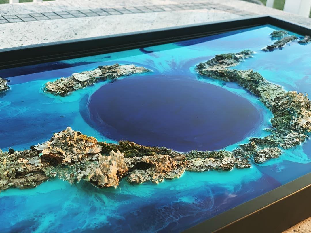 Epoxy Table 3d Real Wall Decoration Artwork Etc En 2020 Avec Images Peinture Resine Resine Epoxy Bois Decoration