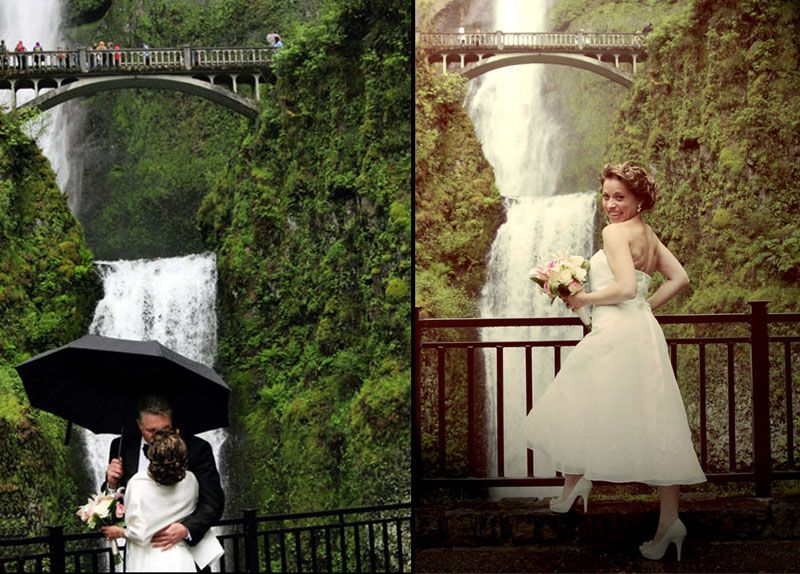 Wedding At Multnomah Falls
