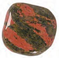 Unakite Tumbled Semiprecious Rock Approx 1-1.5 Inch w Info Card