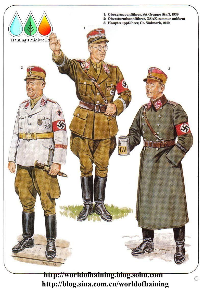 SA uniforms | WWII Germany | Ww2 uniforms, German uniforms