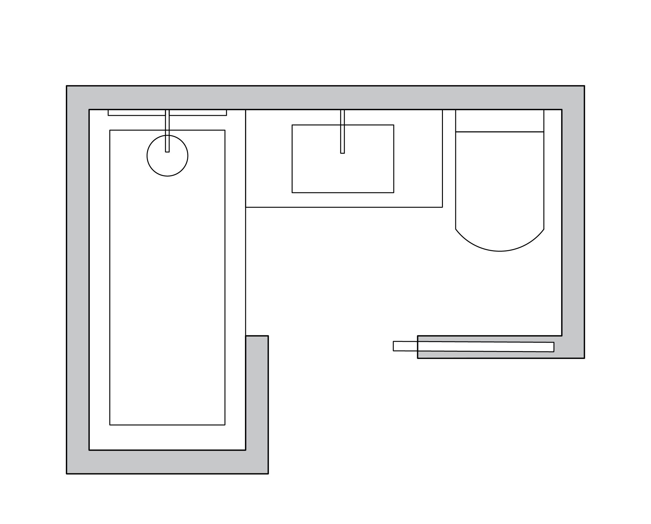 Small Bathroom Layout Ideas From an Architect to Optimize Space ...