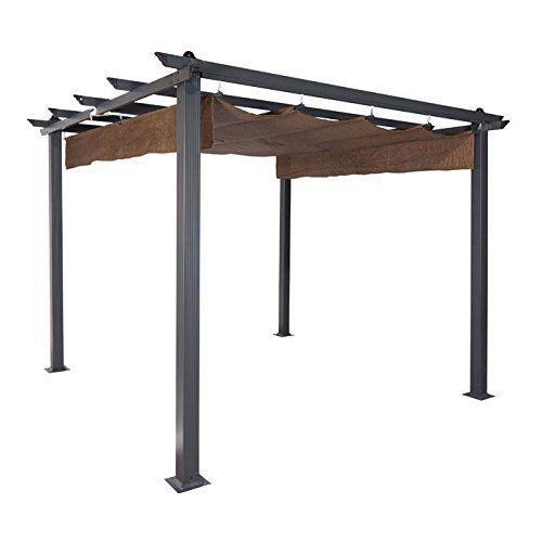 Pergola Roofing Design Ideas From The Natural To The Motorized Outdoor Pergola Metal Pergola Aluminum Pergola