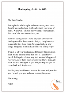Ever best apology letter My Apology