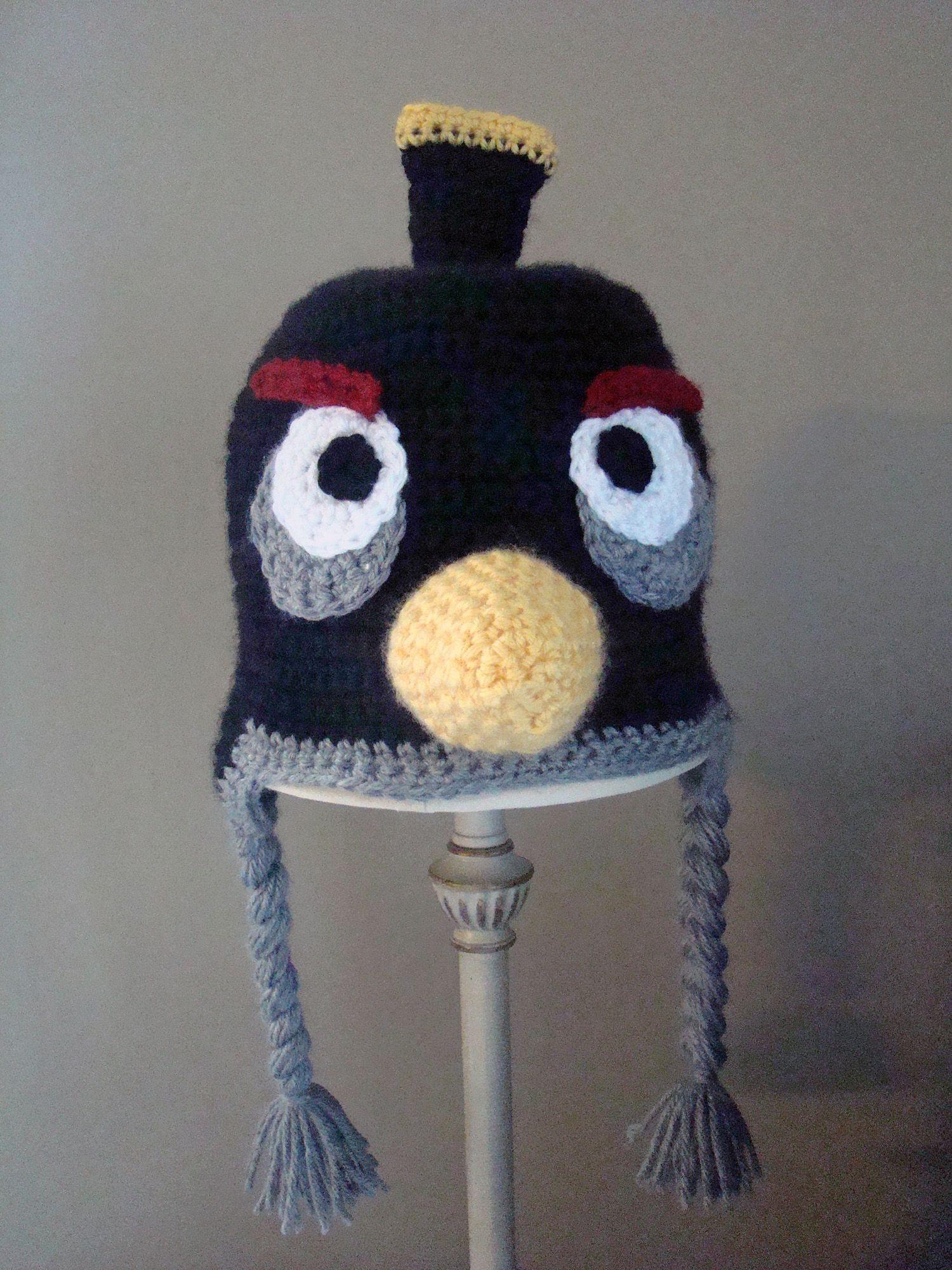 Angry Birds Hat Black Bird - Free Crochet Pattern   Crochet ...