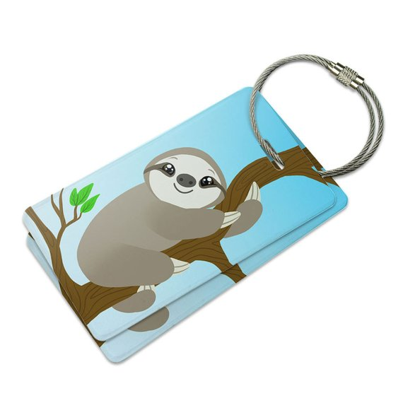 f7a4d1ac1024 Sloth Just Hanging Around Suitcase Bag Id Luggage Tag Set in 2019 ...