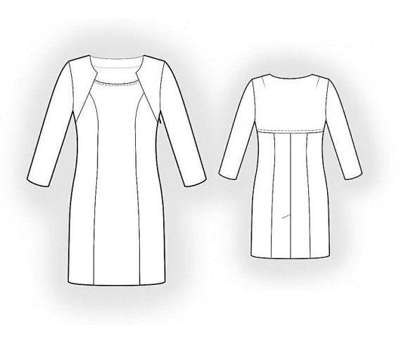 Lekala 5941 Dress Sewing Pattern PDF Download Free Made by Lekala ...