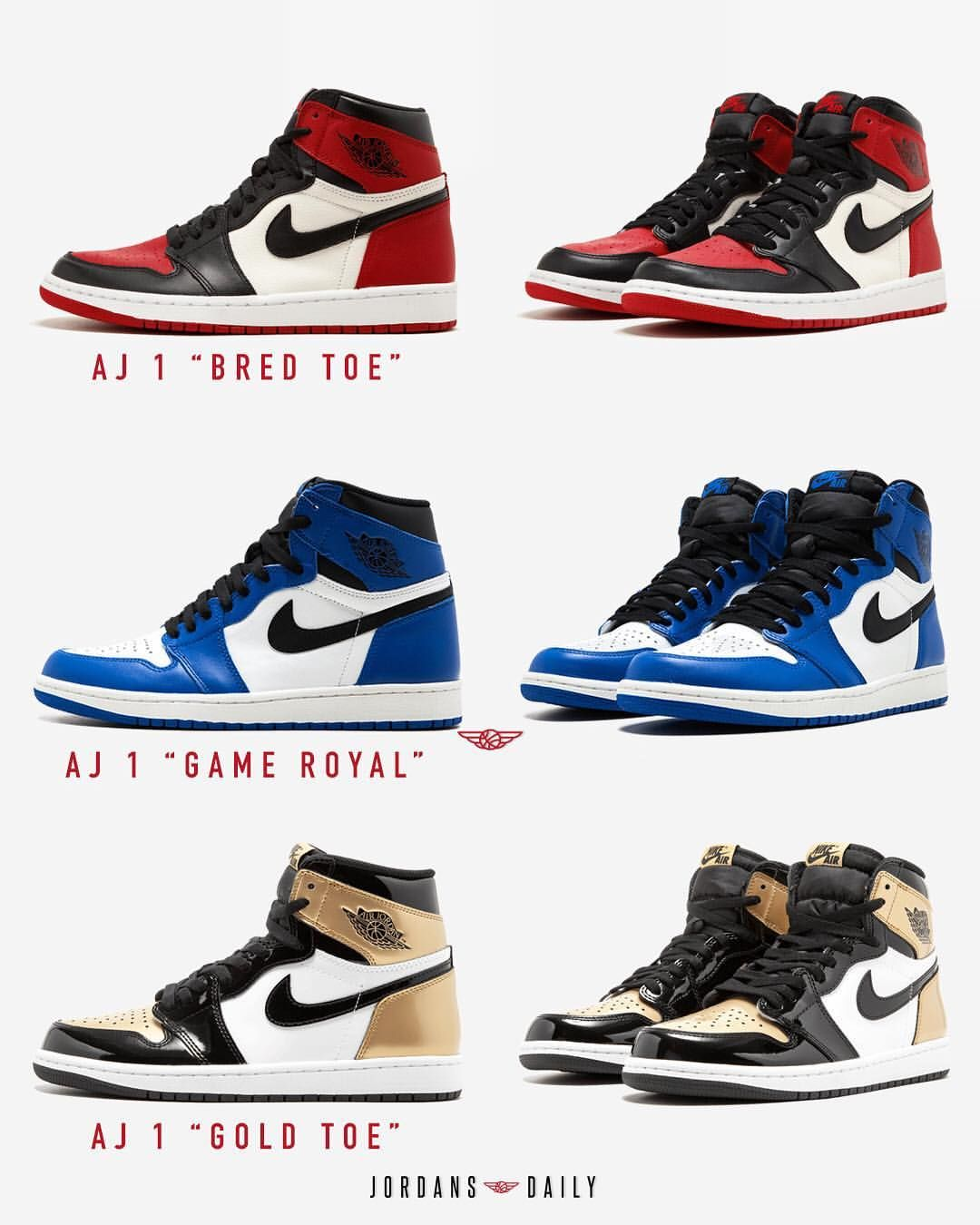 d2dfda9e725cb7 Which of these 2018 GR Air Jordan 1 is your pick  Find this Pin and ...