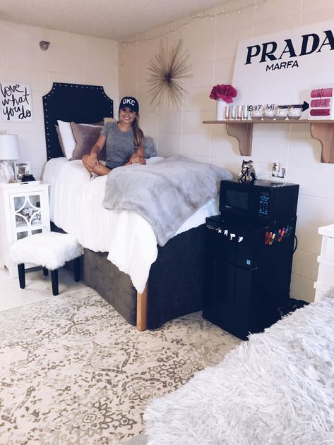 Black White Dorm Decor Dorm Room Inspiration College Bedroom Decor College Bedroom