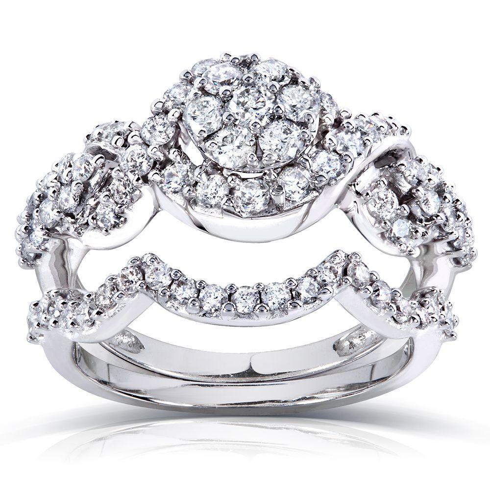 Annello by Kobelli 14k Gold 1ct TDW Diamond Braided Bridal