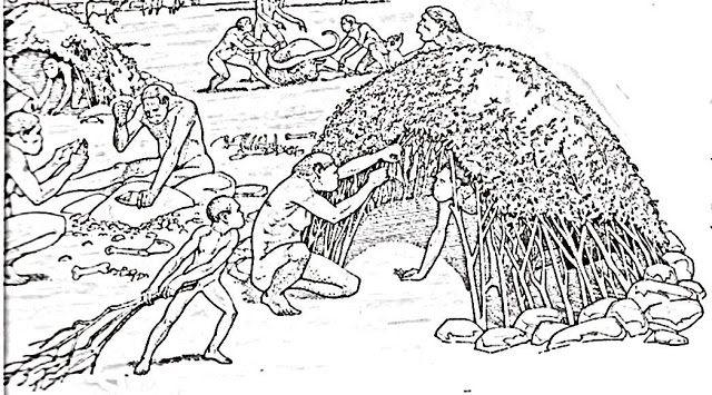 Choza Jpg 640 355 La Prehistoria Para Ninos Animales Prehistoricos Prehistoria