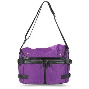 Discontinued Hayden Harnett Bedford Messenger bag in Violet (still heart broken I didn't buy it when I had a chance)
