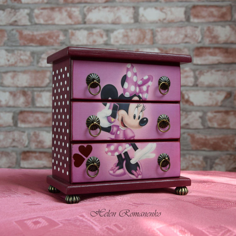 Minnie Mouse boxMickey Mouse Boxpinkpeaskids jewelry organizer