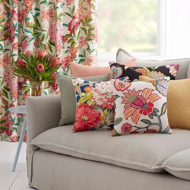 Warwick Fabrics: FLORANOVA Upholstery, Flowers, Botanical