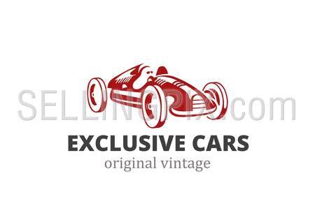 Racing Retro Car Logo abstract design vector template. Vintage exclusive vehicle…