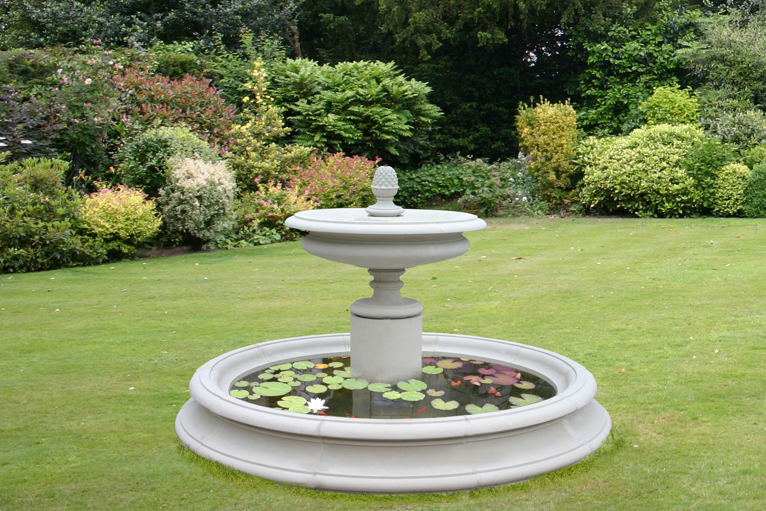 One of a kind fountains do you like lawn decorations if Outdoor water fountains