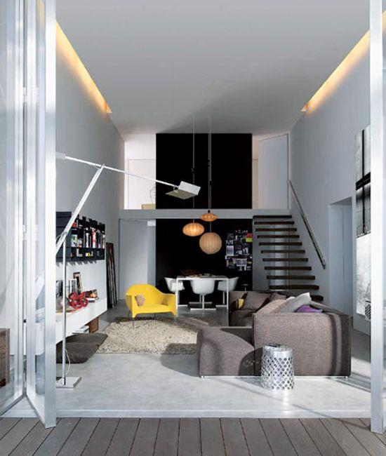 id es de design et d coration pour petits espaces loft inspiration pinterest espaces. Black Bedroom Furniture Sets. Home Design Ideas