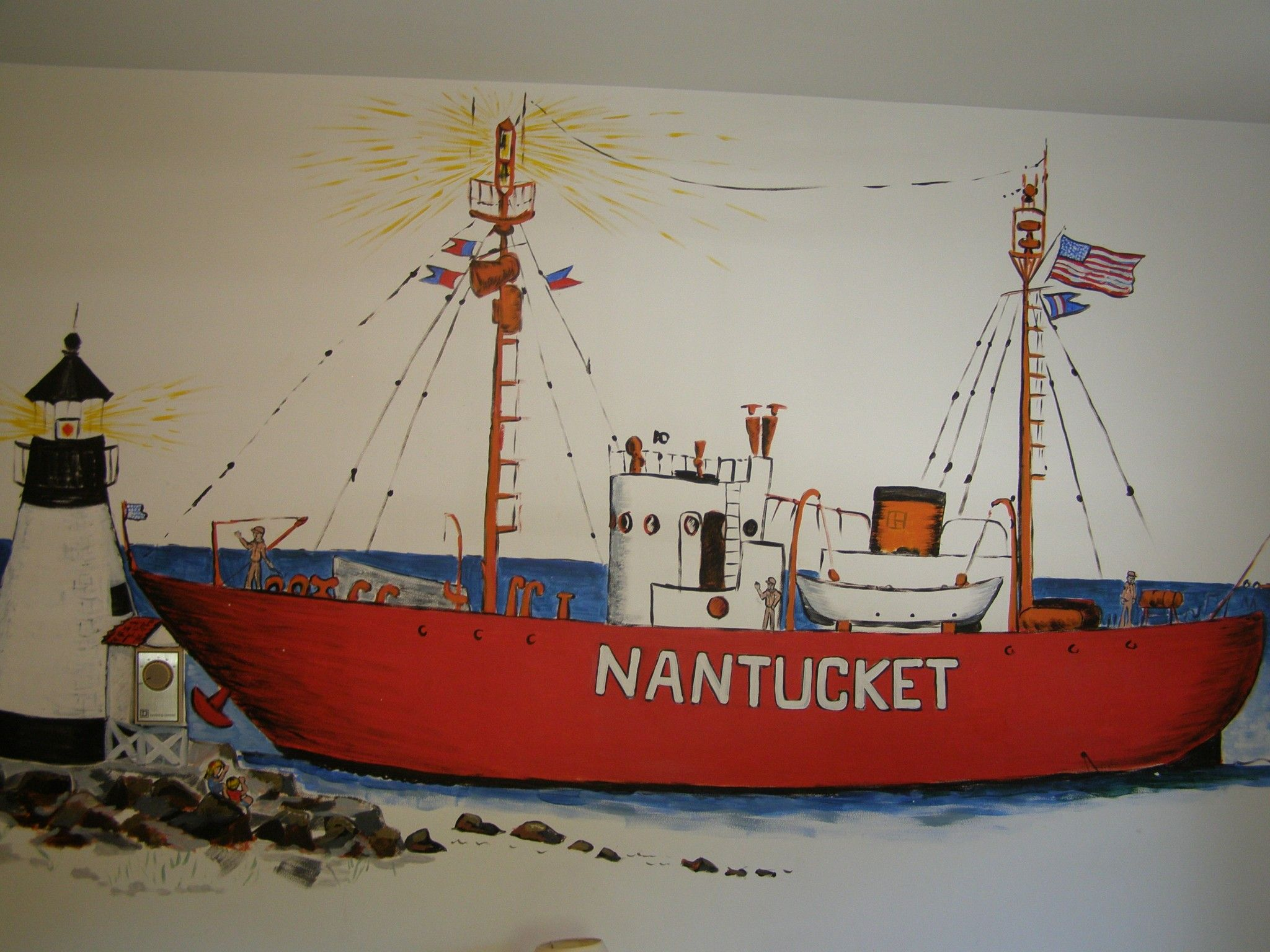 nantucket wall mural
