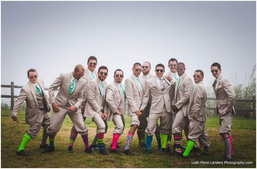 Whitney Mountain Lodge - Groomsmen - Neon Socks - Northwest Arkansas Wedding Photographer - Leah Marie Landers Photography