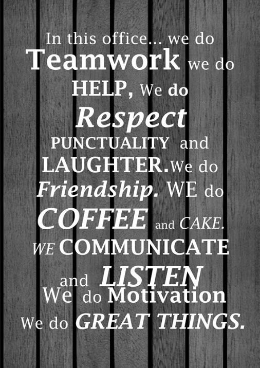in this office we do teamwork - Google Search | Job ...