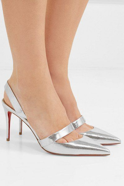 97cd388e3a3b Christian Louboutin actina 85 metallic lizard-effect leather pumps.   christianlouboutin