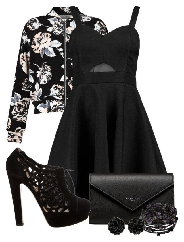 """""""Floral Jackets"""" by tlb0318 ❤ liked on Polyvore featuring Miss Selfridge, Boohoo, Balenciaga, Valentino and 1928"""