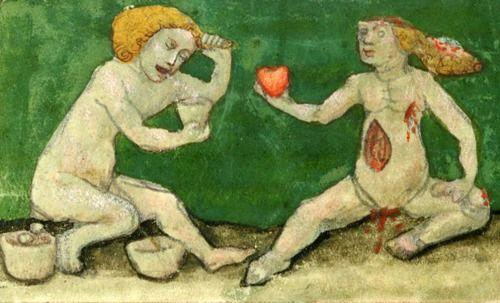 heart in hand  Aurora consurgens, St. Gallen 15th century  Zürich, Zentralbibliothek, Ms. Rhenoviensis 172, fol. 19v