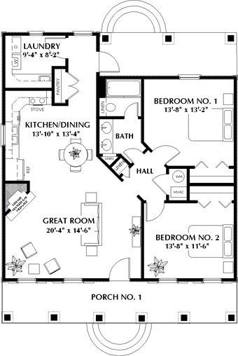 2 Bedroom 1 Bath Cabin Lodge House Plan Alp 03wg Plans De Maisonnette Plan Maison Plan Petite Maison