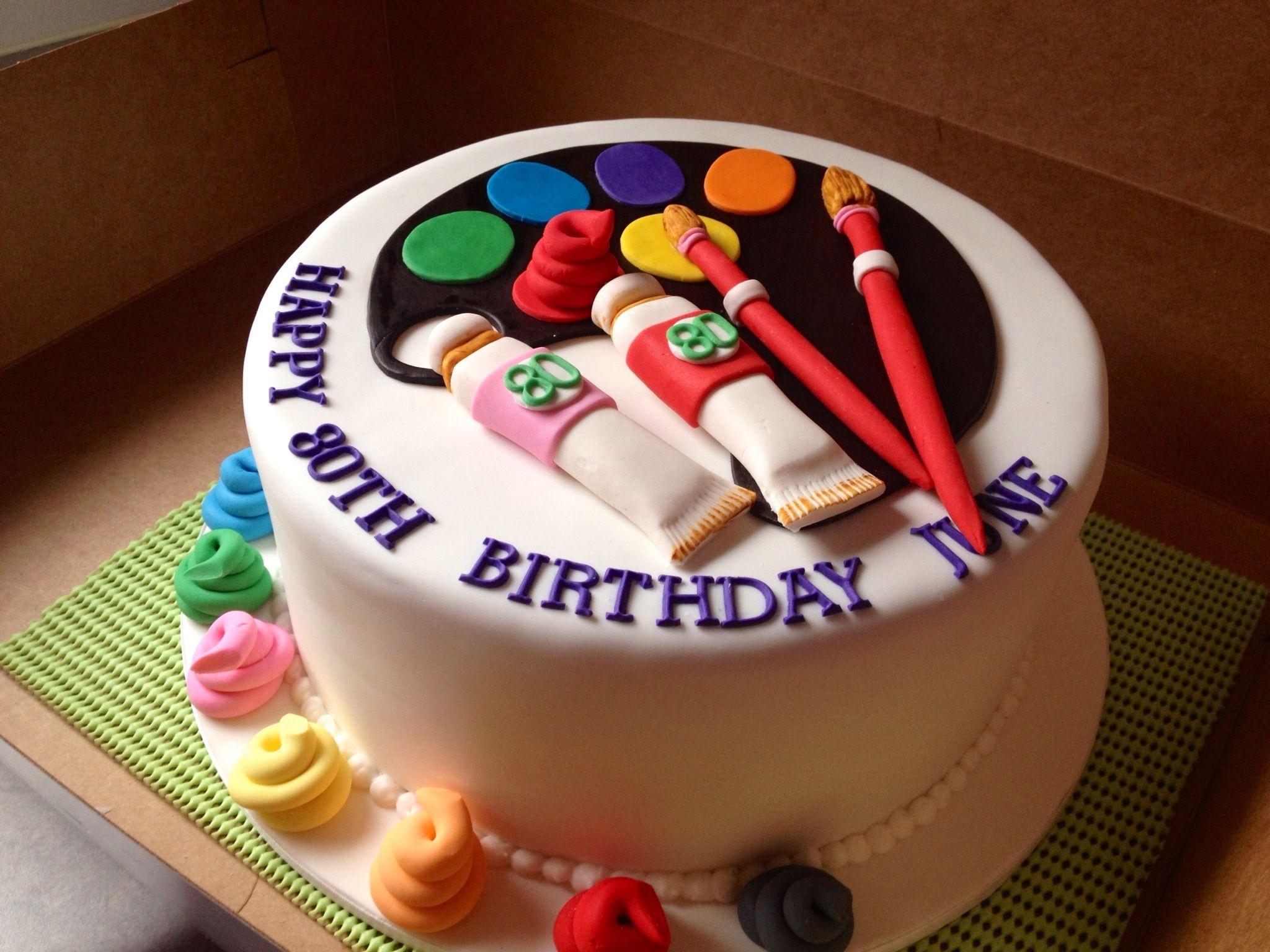 Artists paint pallet cake. D'lish Cupcakes & Accessories