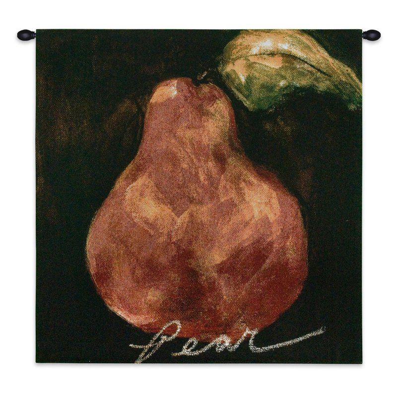 Fine Art Tapestries Red Pear Wall Tapestry - 2024-WH