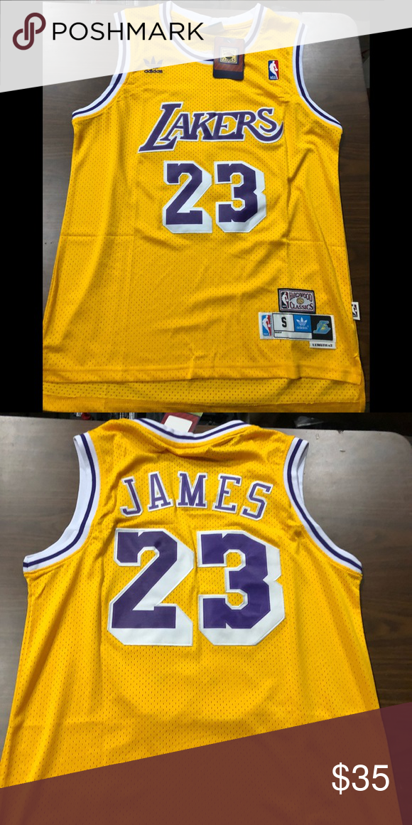 official photos 20424 95466 Gold showtime lebron James lakers throwback jersey Gold ...