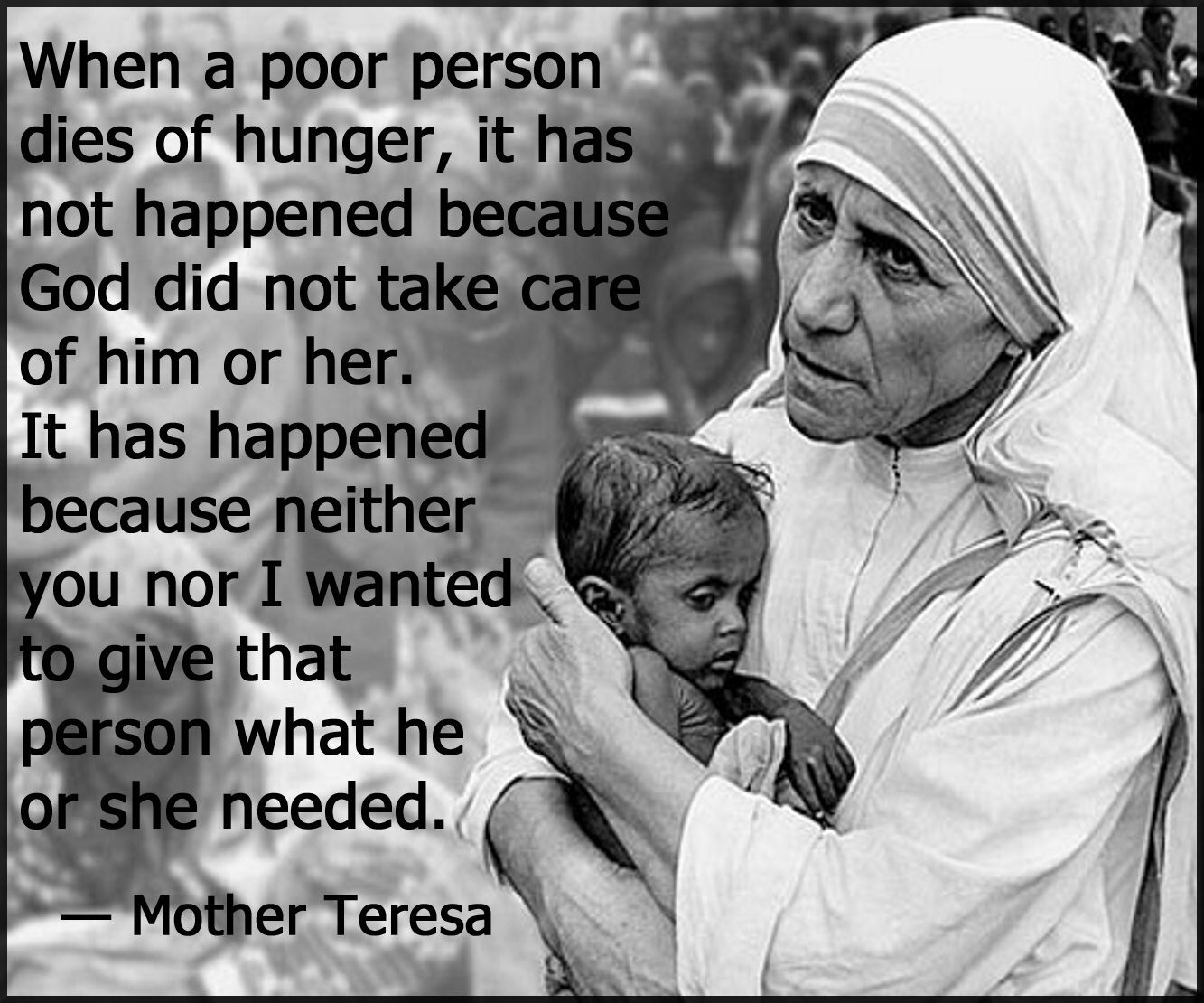 This Is A Hard Truth Mother Teresa Quotes True Self Mother