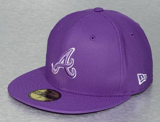 362c286a312 Atlanta Braves Tonal Diamond Era Varsity Purple 59Fifty Fitted Baseball Cap  by NEW ERA x MLB