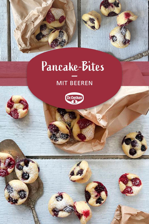 Pancake-Bites mit Beeren