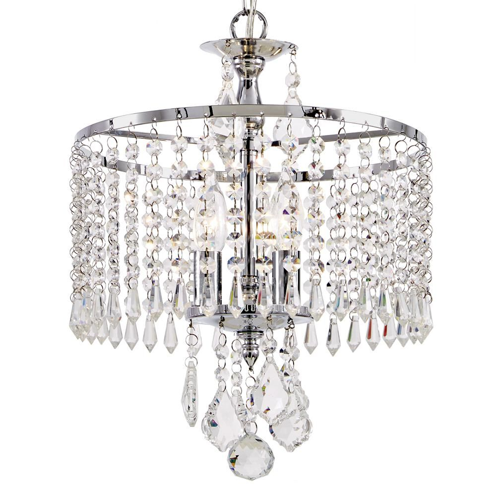 Home decorators collection 3 light polished chrome mini chandelier home decorators collection 3 light polished chrome mini chandelier with k9 crystal dangles arubaitofo Image collections