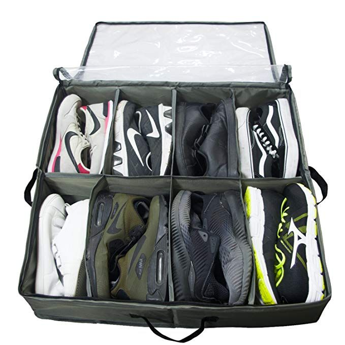 Sturdy Underbed Shoe Storage.Acmetop Built In Structure Under Bed Shoe Storage Space