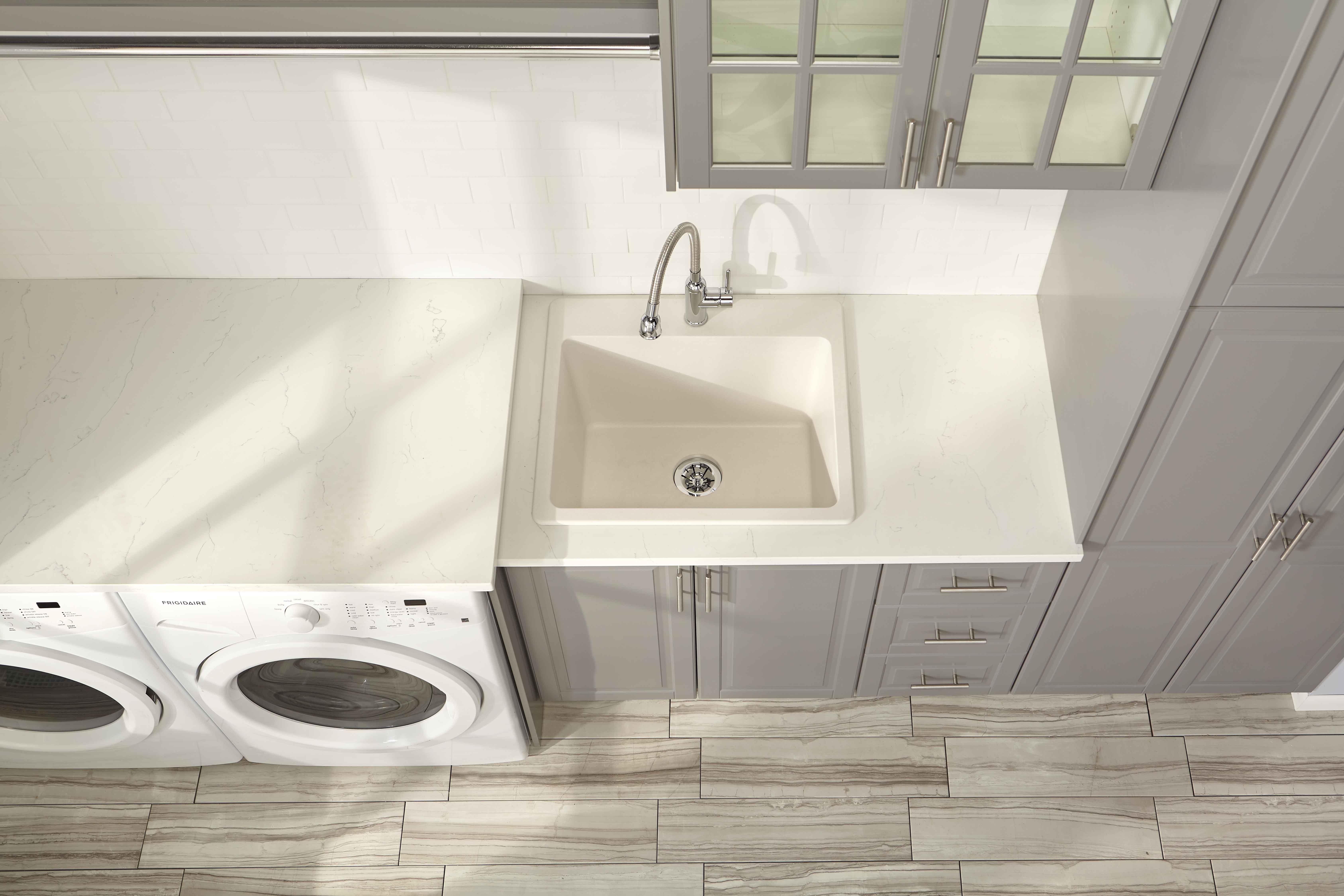 Quartz Classic 25 X 22 X 11 13 16 Drop In Laundry Sink With
