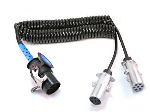 Adapter Spiralkabel Mit 1 Stecker 15 Polig 24v Und 1 Stecker 7 Polig