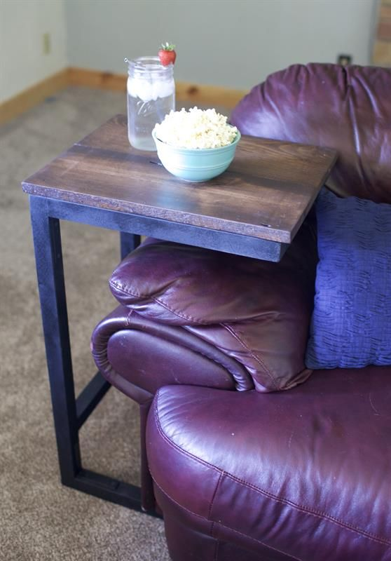 Rustic Slide In End Table Diy Side Table Diy End Tables End Tables