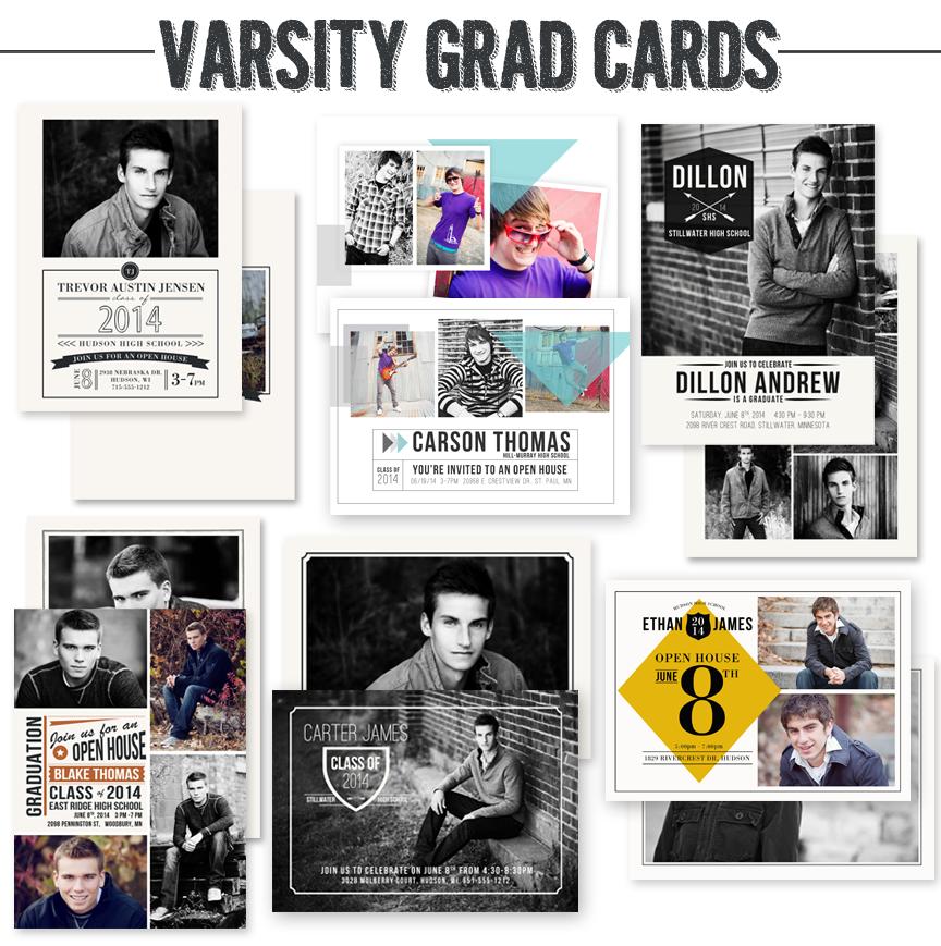 varsity graduation card templates by jamie schultz designs