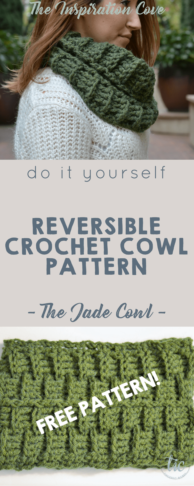 Do it Yourself - The Jade Crochet Cowl Pattern - Free Crochet ...