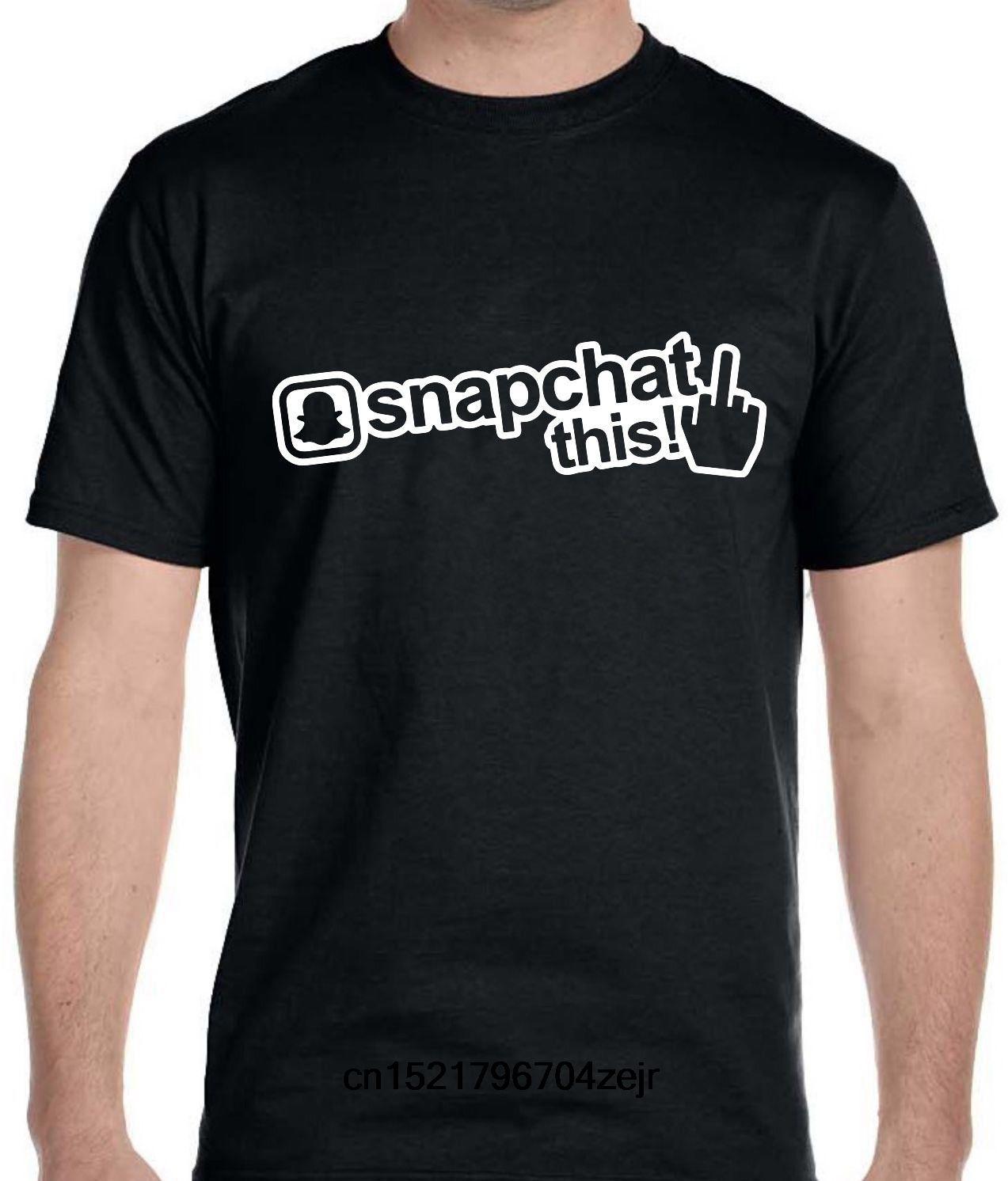 Popular Tshirt Oneck Tshirt Snapchat Logo in 2020