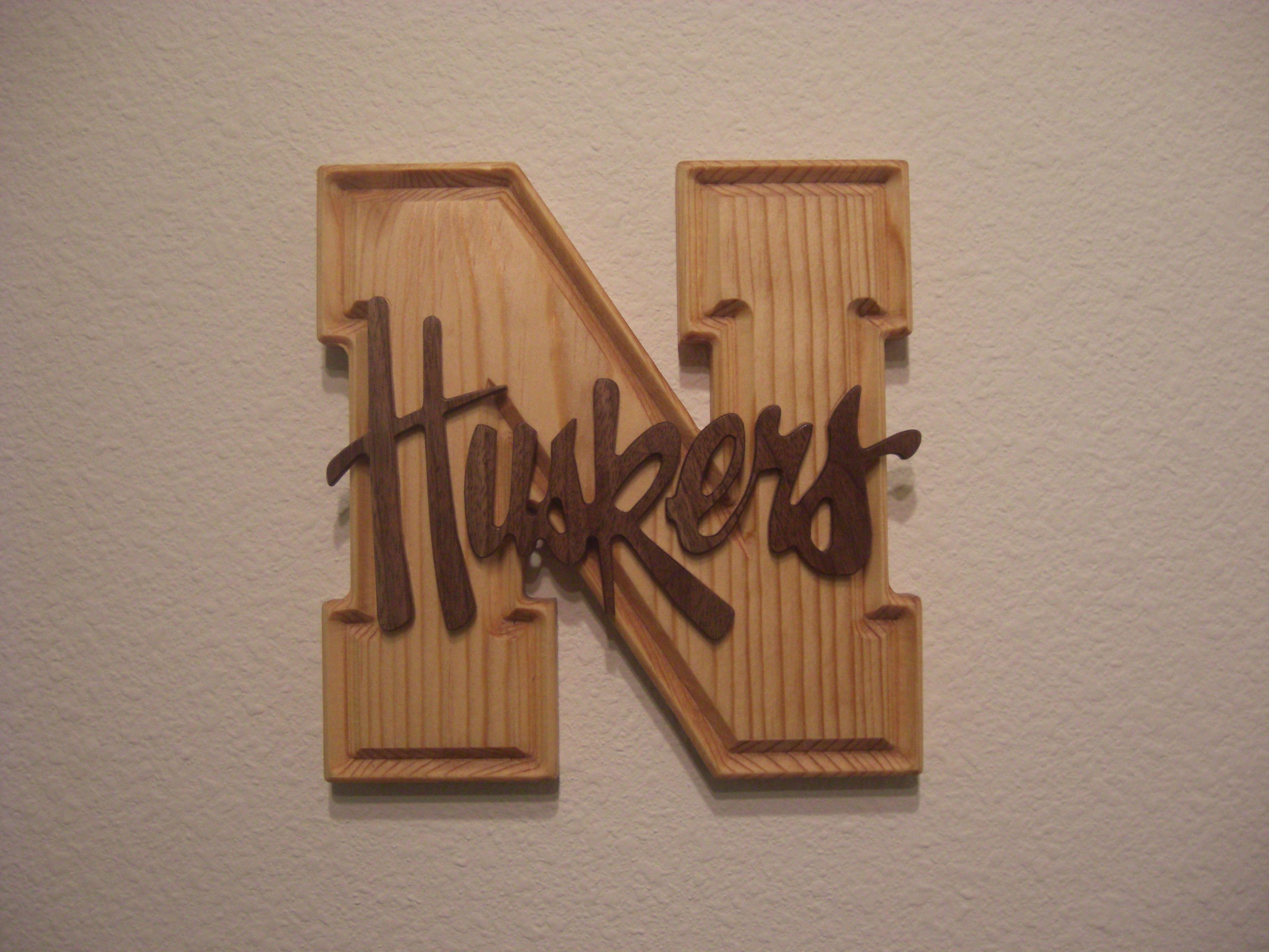 Nebraska Husker Sign Wood Signs Nebraska Huskers Wood Wall Art