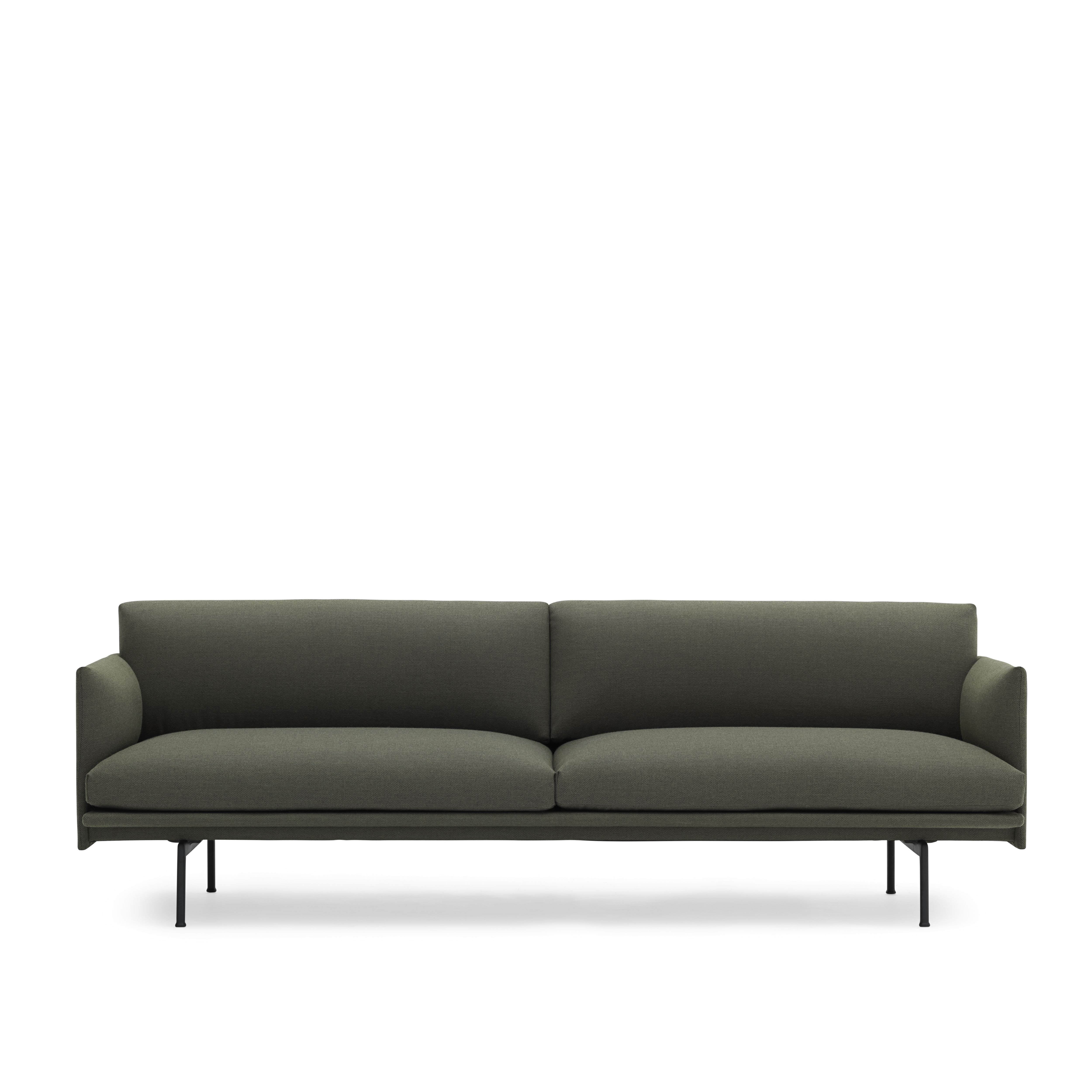 Interio Sofa Hay Outline 3 Seater In Fiord 961 Designed By Anderssen Voll For