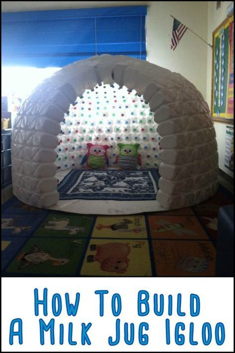 This Igloo Made From Repurposed Milk Jugs Will Keep The Kids Entertained For Hou... , #craft...
