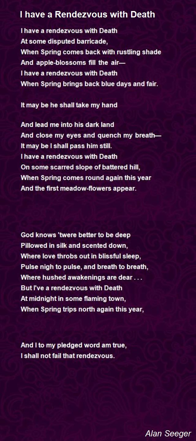 rendezvous with death poem