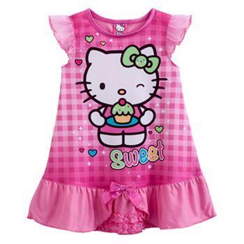 8de8a18f842b Hello Kitty® Sparkling Nightgown - Toddler