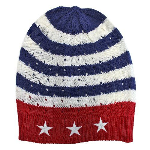 USA American Flag 2 Knit Beanie Stocking Cap Patriotic Star Stripe Free Shipping