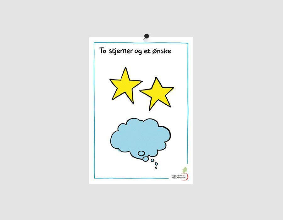 """""""To stjerner og et ønske"""", A4 Plakat - Kompetencehuset Heckmann"""