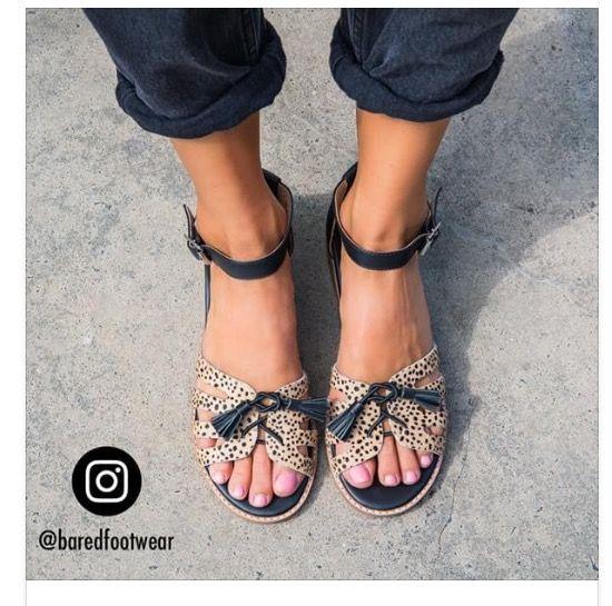 Bared Footwear Peacock Sandal In Dalmatian Shoes
